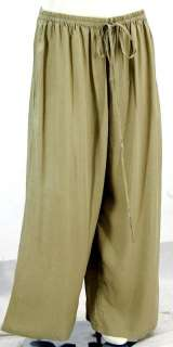 A155 SAND/PANTS WIDE LEG LAGEN RAYON MADE 2 ORDER S M L