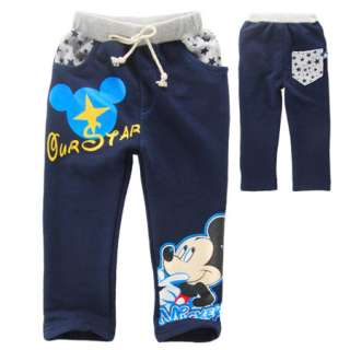 NWT Boys Blue Mickey Pants 2 8 Years