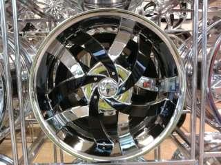 Wheel + Tire Packages 22 inch Triple chrome rims V825