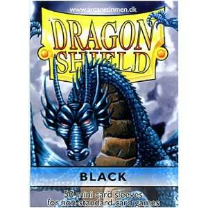 Dragon Shield Card Supplies YUGIOH Card Sleeves Black 50