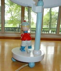 Vtg~IRMI~Nursery~Baby~Boy~Child~Mother Goose~Horse~Wood~Wooden~Red~Lt