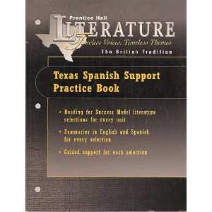 Texas Spanish Support Practice Book (Prentice Hall