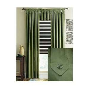 Waverly Pantry Solid Sage Tab Top Valance Home & Kitchen