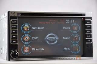 Nissan Double DIN DVD GPS Navigation Radio Touch Screen 2 Din Indash