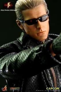 scale HOT TOYS VGM08 BIOHAZARD 5 ALBERT WESKER MIDNIGHT version