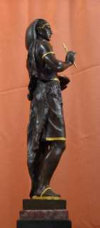 Art Deco Bronze Egyptian Scribe Emile Picault Statue Limited Edition