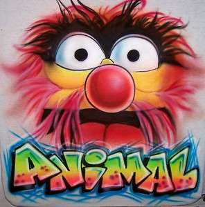 The Muppets Airbrush ANIMAL T shirt   Personalized & Airbrushed w