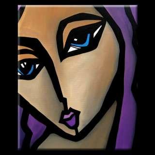 ORIGINAL ABSTRACT PAINTING MODERN FACE ART FIDOSTUDIO