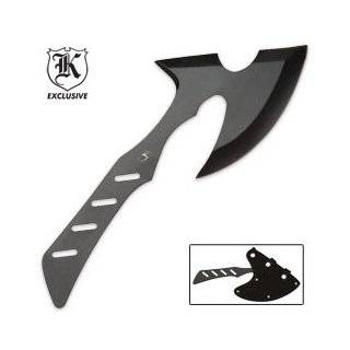 Singapore Sling Throwing Axe Black With Sheath