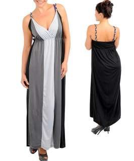 SeXY WoMeNS PLuS SiZe WRaP BuST STReTCHY CoLoR BLoCK LoNG MaXi SuMMeR