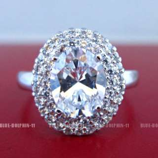 Antique Genuine Solid 9ct White Gold Engagement Wedding Rings