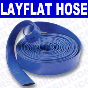 32mm 1 1/4 LayFlat Discharge Water Pump Hose Pipe 10m