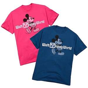 NEW Walt Disney World Resort Mickey Mouse Girls Pink Cotton Tee Shirt
