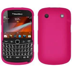 New Amzer Rubberized Hot Pink Snap On Crystal Hard Case For Blackberry
