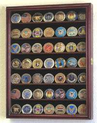 Military Challenge Coin Display Rack Case Cabinet