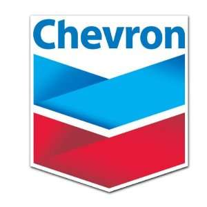 Chevron Oil Gas Racing Gasoline Station Sticker 4.5x4
