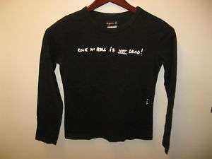 Agnes B Paris Black Rock & Roll Long Sleeve Shirt Sz 1