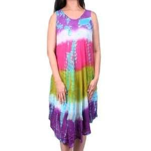 Length Multi Color Batik Print Dress Case Pack 6: Sports & Outdoors