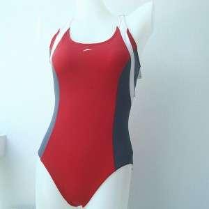 NWT Womens Speedo One Piece Swimsuit Red Size 34