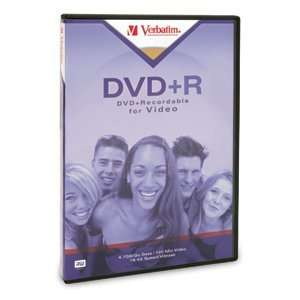 O VERBATIM O   Disc   DVD+R   4.7GB   2.4X   Branded   DVD