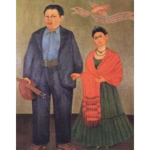 Oil Painting Frida and Diego Rivera Frida Kahlo Hand