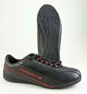 GM CORVETTE DRIVING SHOES, GLOVE LEATHER UPPERS BLACK