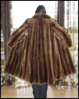 Full Length Sheared Beaver FUR Winter Swing Coat Art Deco 45B x 45L
