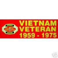 VIETNAM VETERAN 1959 1975 BUMPER STICKER DECAL BM0012