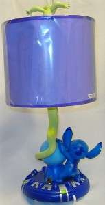 DISNEY STITCH&COUSIN LAMP 20 TALL SPACESHIP NITE LITE RARE GREAT