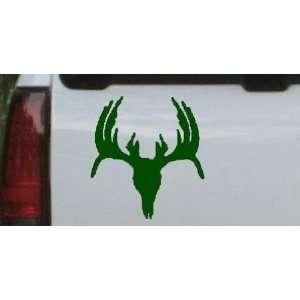 Deer Skull Mount indeginous Hunting And Fishing Car Window Wall Laptop