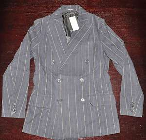 670 RRL RALPH LAUREN DOUBLE RL DOUBLE BREASTED PINSTRIPES BLAZER