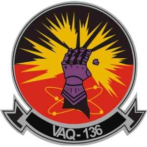 US Navy VAQ 136 The Gauntlets Squadron Decal Sticker 3.8