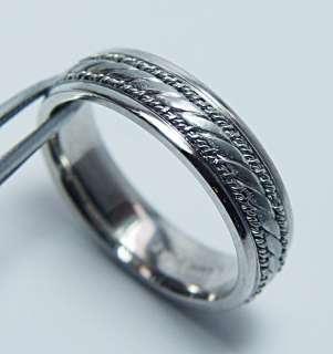 NOVELL Platinum Man Wedding Ring Band 14.6gr Heavy Estate Jewelry Sz