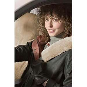 Lowback Custom Sheepskin Car Seat Cover/Drivers, CAMEL, Size 1 SIZE