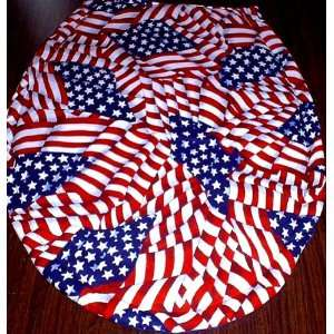 NEW TOILET SEAT LID COVER MADE FROM AMERICANA WAVY FLAG