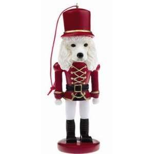 Poodle Dog Soldier Nutcracker Ornament