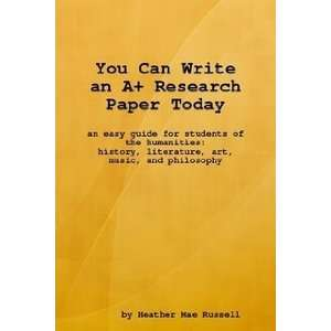 an A Research Paper Today (9780615195254): Heather Russell: Books