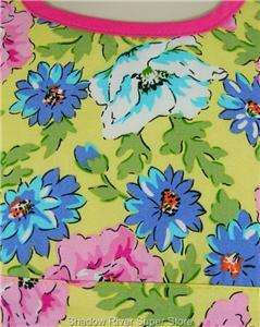 New 2 Pc Baby Girl Pink Blue Yellow Floral Dress 6 Mo