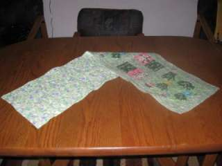Handmade Table Runner Lily of the Valley Spring Floral