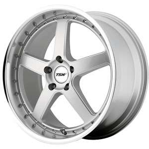 New 17X8 5 114.3 TSW TSW Silver Machined Lip Wheels/Rims