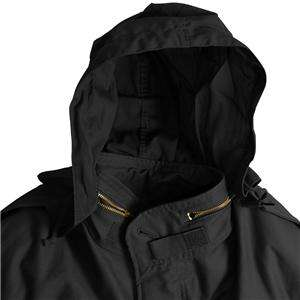 ALPHA M 65 FIELD COAT WITH LINER BLACK 3XL ARMY M65