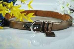 New BRONZE Womens Skinny Leather Belts SZ (XL)