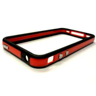 Apple iPhone 4 G New Ultra Slim Red Dual Bumper Case