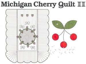 Cherry Quilt Block & Quilt applique quilting pattern & templates