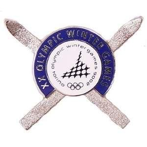 Torino 2006 Olympics Crossed Skis Pin