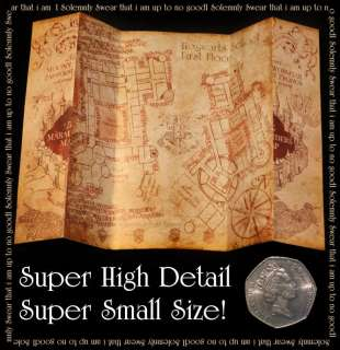 Harry Potter MICRO Marauders Map of Hogwarts Castle Stunning detail