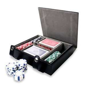 Natico Originals 60 G1244L Poker Set In Blk Leather Case