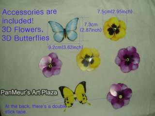 UDP 11 Pansy, DIY Mural Wall Sticker Decor Decals Deco