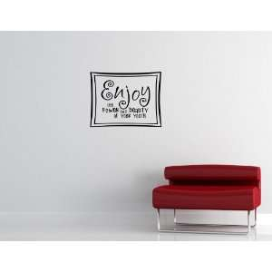 YOUTH Vinyl wall lettering stickers quotes and sayings home art decor