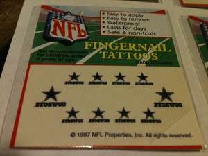 NEW NFL DALLAS COWBOYS NAIL TEMPERARY TATTOO DECAL STICKER SET